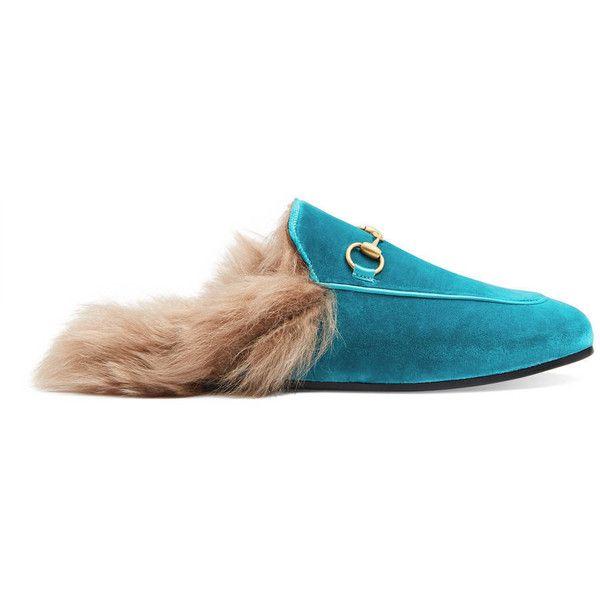 Princetown Lamb Fur Trimmed Slipper Shoes Gucci pHsemGz
