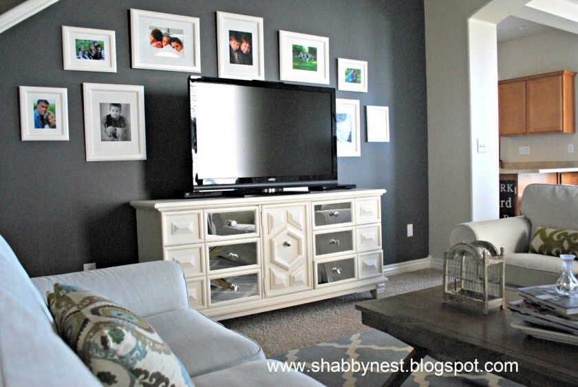 Black Coffee Table White Tv Stand Accent Walls In Living Room Tv Gallery Wall Living Room Wall