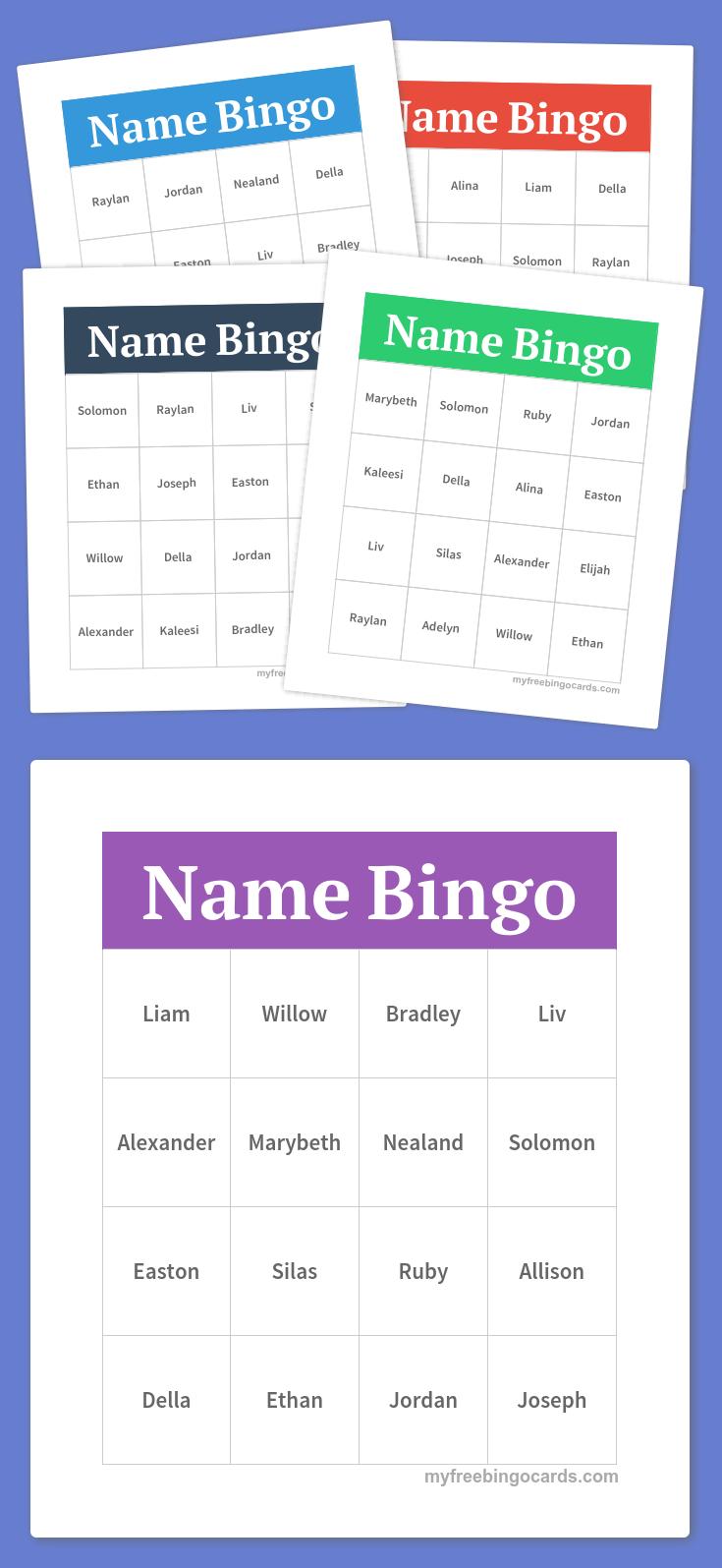 name bingo  free bingo cards bingo card generator bingo