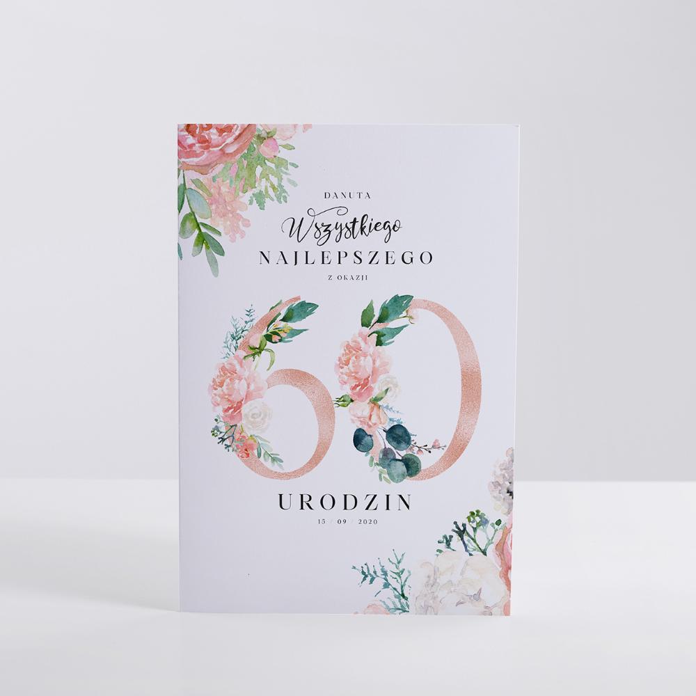 Personalizowana Kartka Na 60 Urodziny Dla Kobiety Book Cover