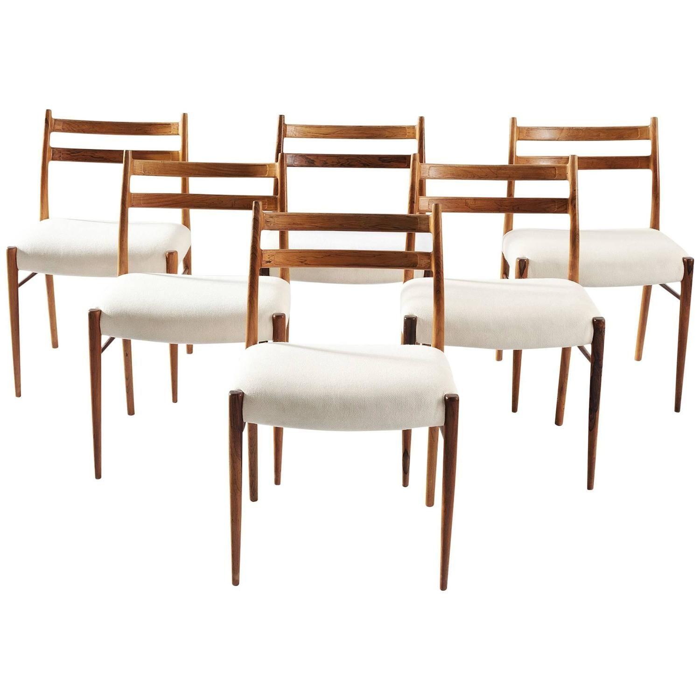 room arne wahl iversen set of six dining chairs - Set Of Six Dining Room Chairs