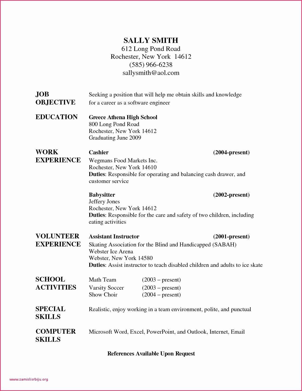 Babysitter Job Description For Resume Beautiful 10 Letter Reference For Babysitter Babysitter Jobs Nanny Job Description Job Resume Examples