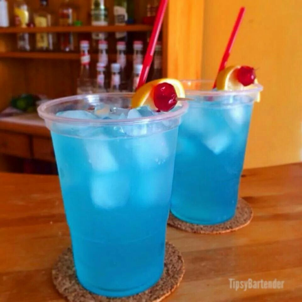 Adios Motherf Cker 1 2 Oz Vodka 1 2 Oz Rum 1 2 Oz Tequila 1 2 Oz Gin 1 2 Oz Blue Curacao 2 Oz Sweet Sour Mixed Drinks Recipes Yummy Drinks Tipsy Bartender