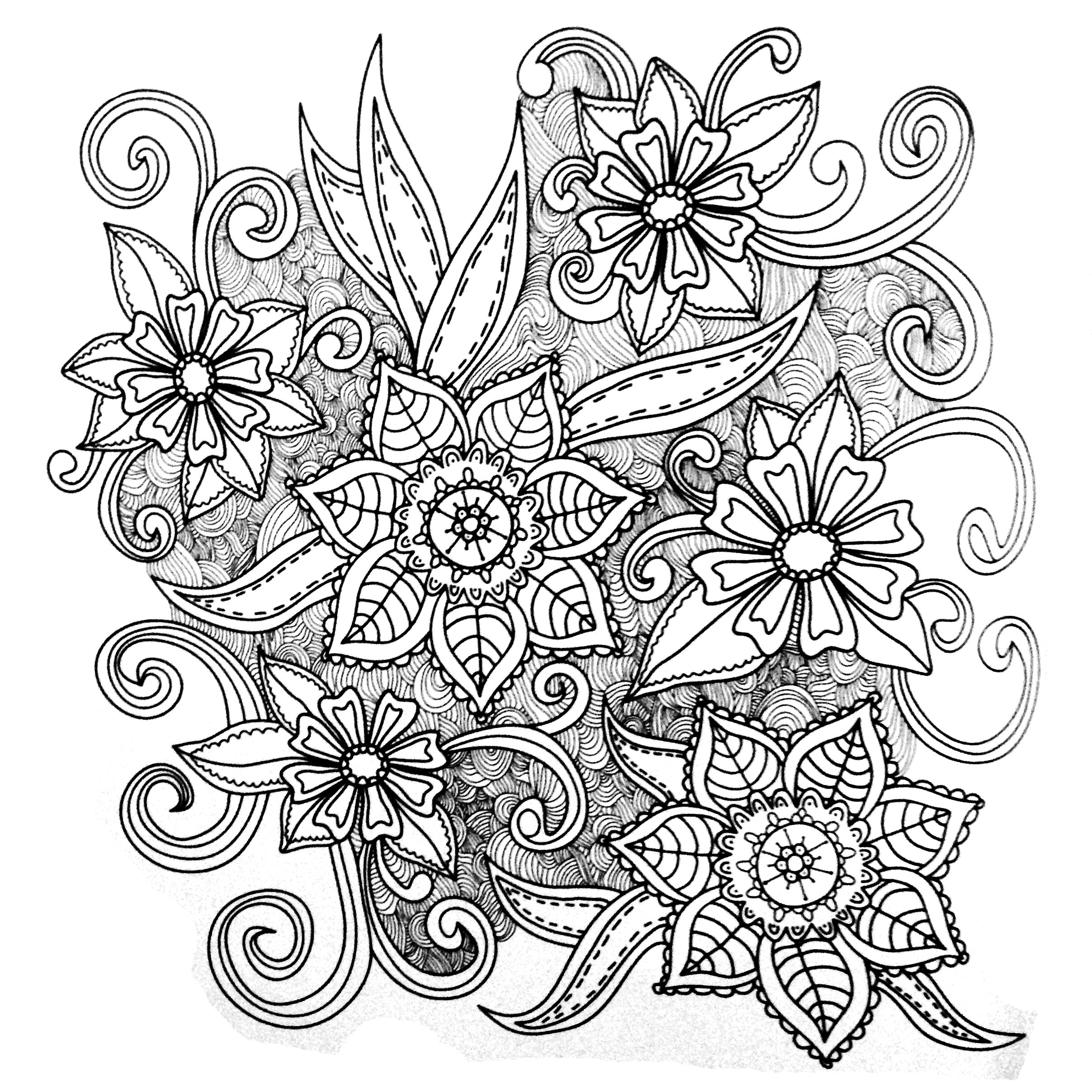 Colors of Nature Adult Colouring Book - Flowers | Tattoos ...