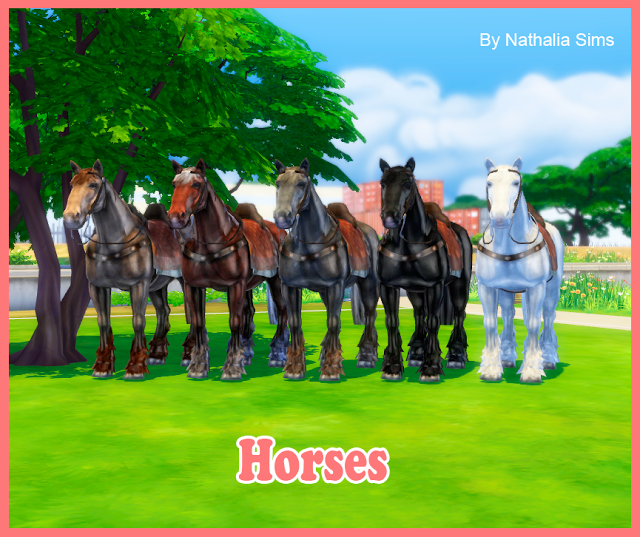 Horses For Ts4 Nathalia Sims Sims 4 Mods Sims Mods Sims