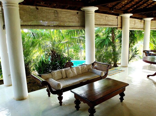 The veranda at the colonial surangana villa in sri lankas for Verandah designs in india