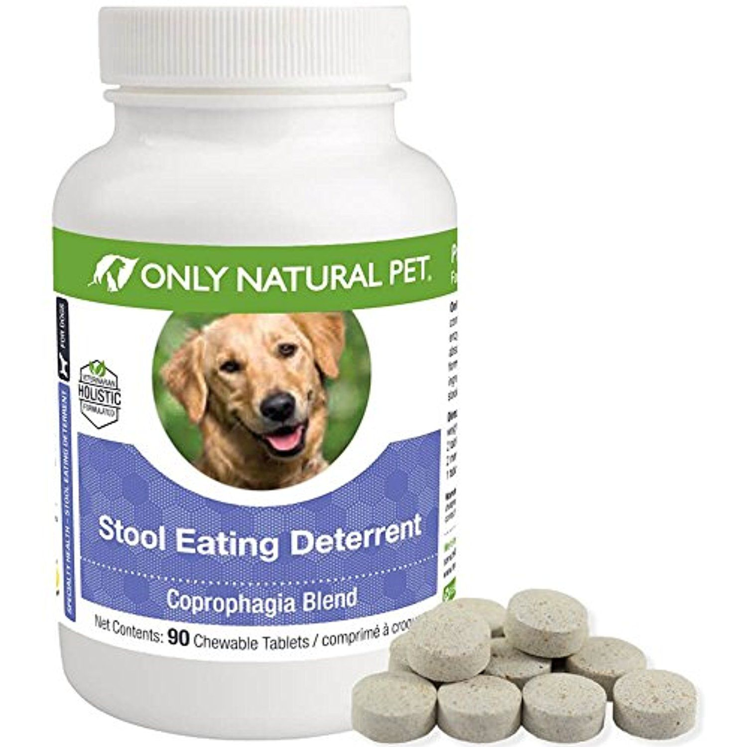 Only natural pet stool eating deterrent for dogs and