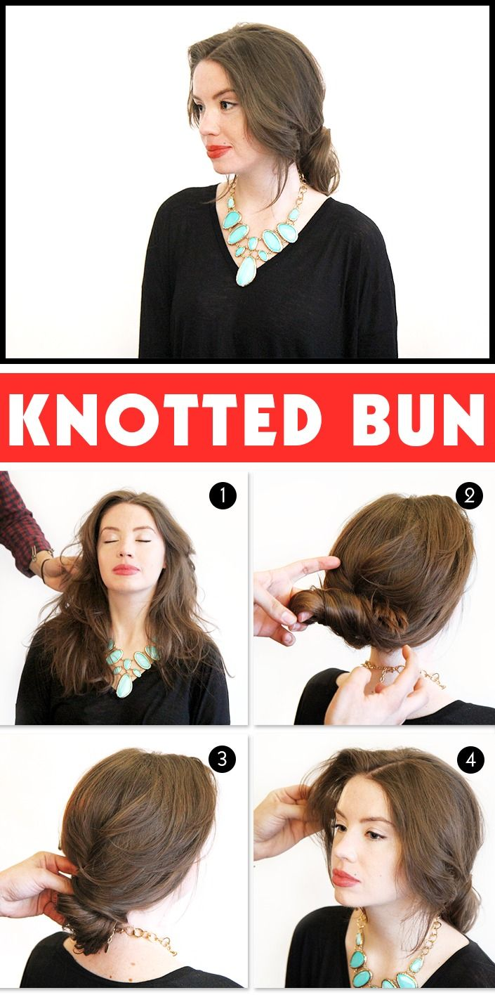 Holiday Hair Ideas: How to Get An Easy, Low Knotted Bun | Holiday ...