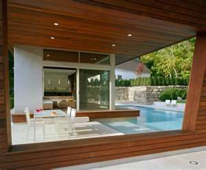 A pool right next to the house dinning area would be so peaceful