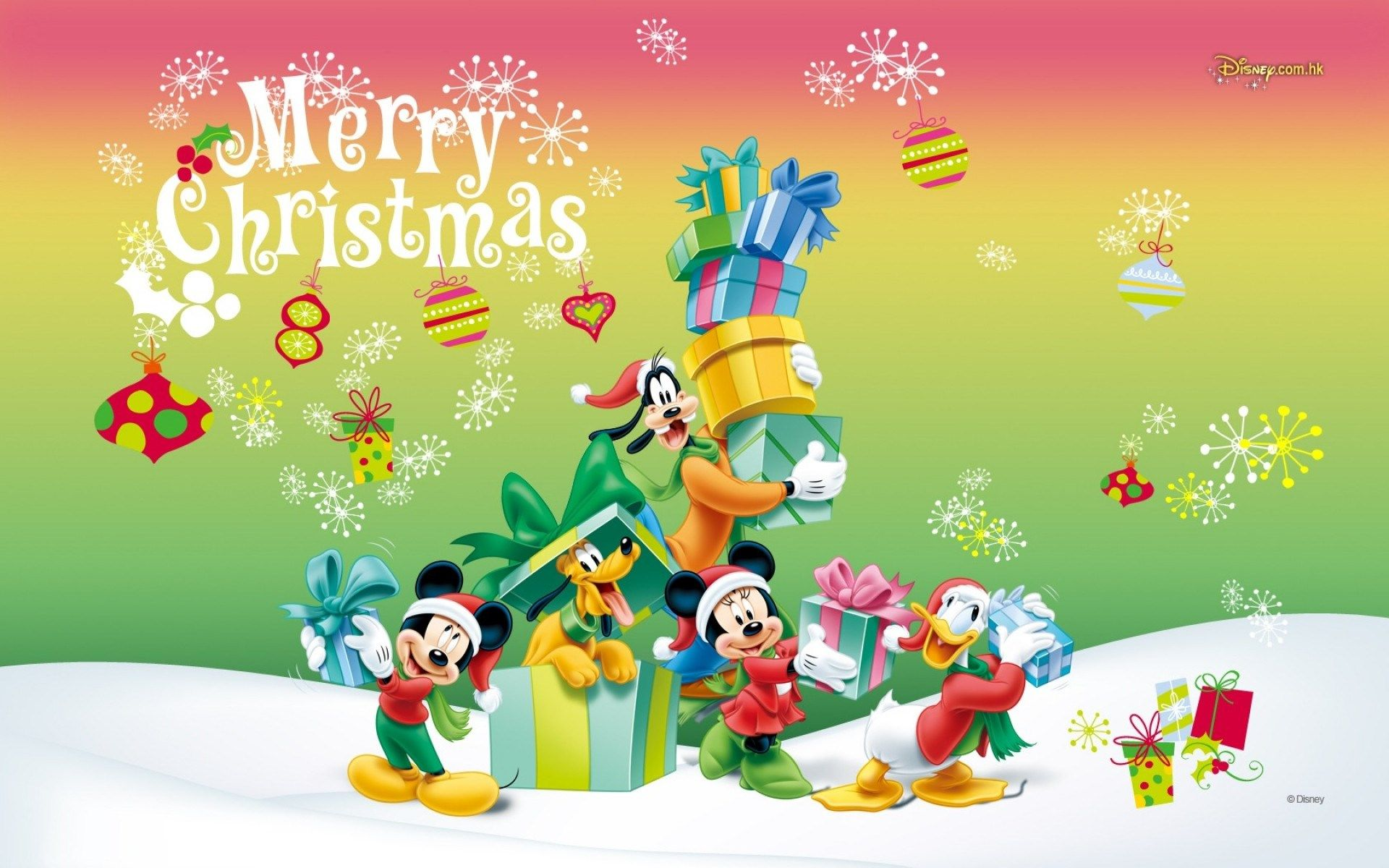 mickey mouse christmas wallpaper hd ololoshenka pinterest. Black Bedroom Furniture Sets. Home Design Ideas