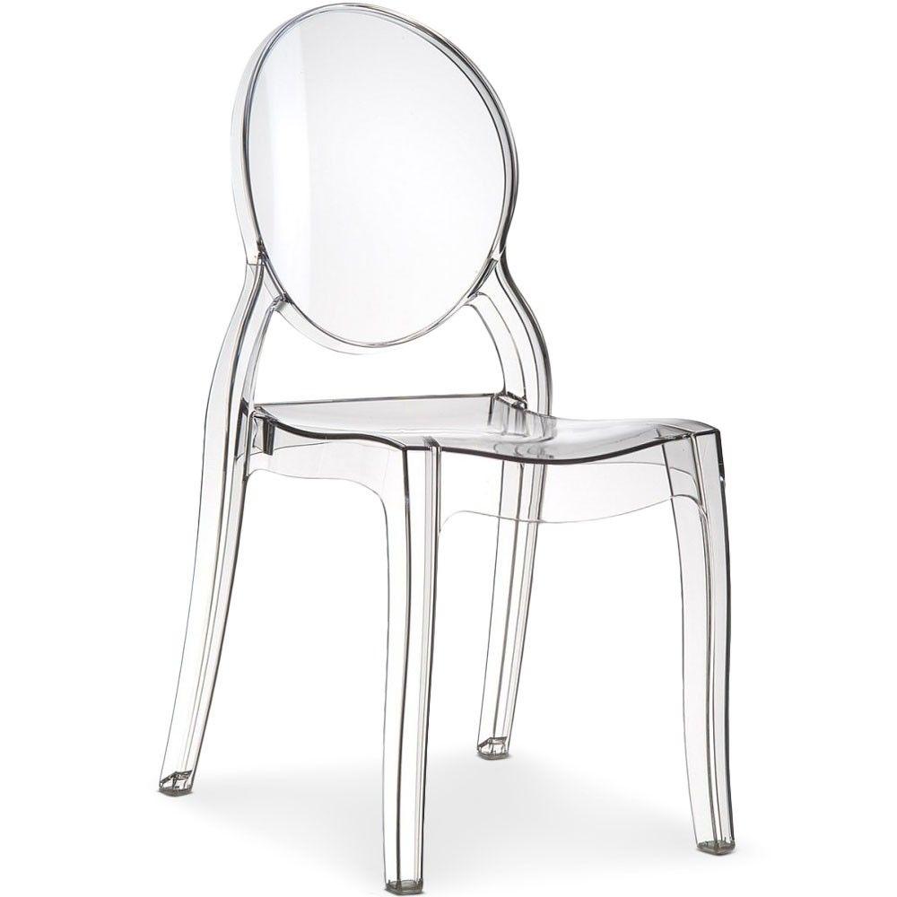Lot De 4 Chaises Medaillon Diva Plexi Transparent Chaise Transparente Chaise Chaise Medaillon