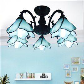 Tiffany style 5 bulbs flush mount ceiling light lamps ceiling lights flush modern bedroom ceiling lights online for sale aloadofball Choice Image