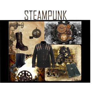 Black Leather Steampunk Top Hat Brass Rivets and Hat Band - Polyvore