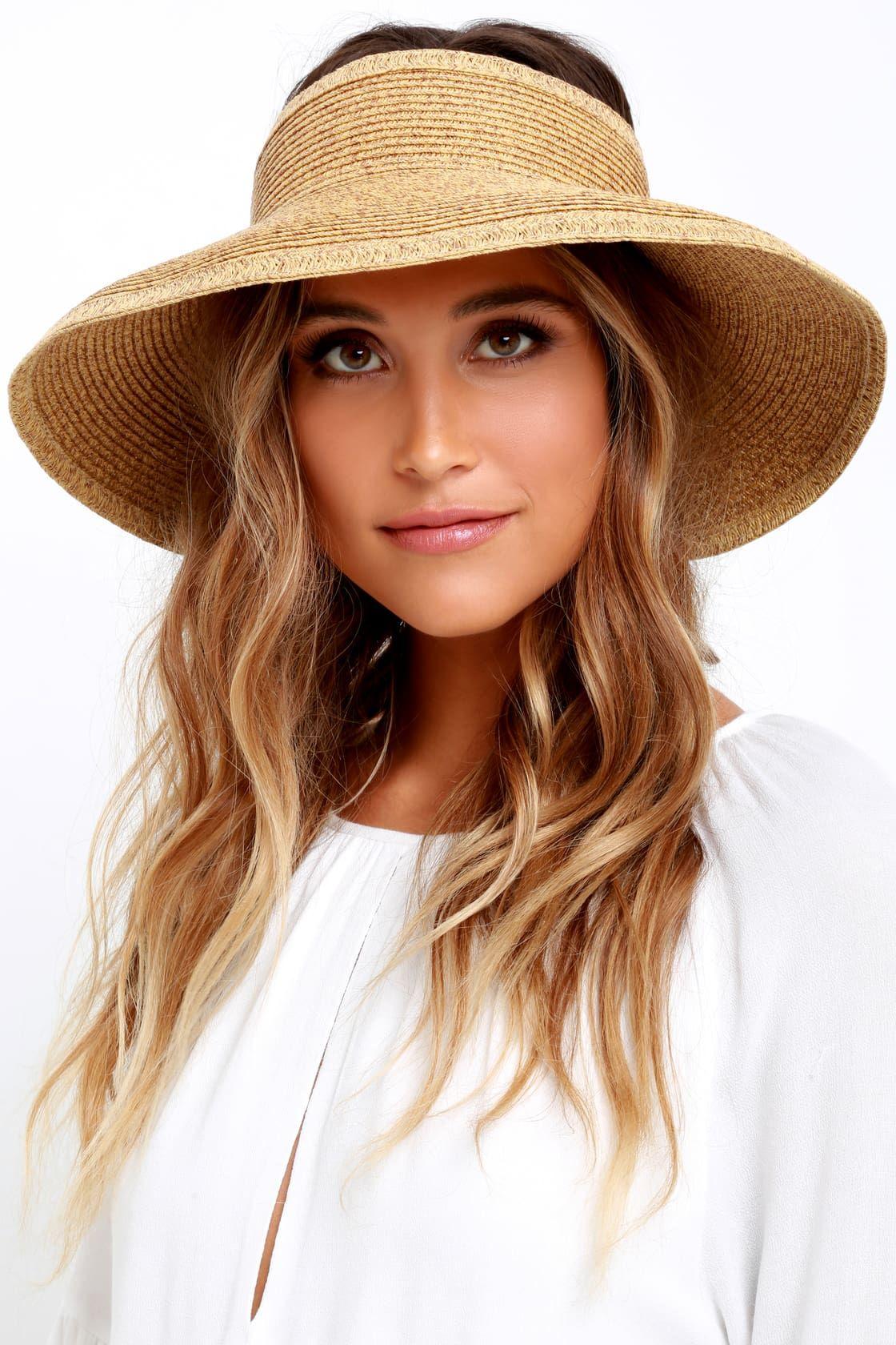 94c8ee261 Shade Stunner Beige Straw Visor! This woven travel-friendly visor ...
