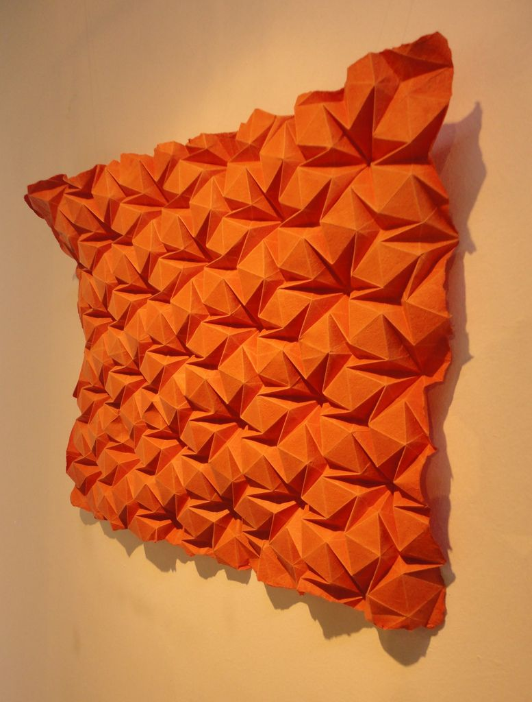 Https Flic Kr P Arbu5q Rhombus Flagstone Folded From Hand Made Flax Paper From Cave Papers Of Minneapolis On Origami Paper Art Useful Origami Origami