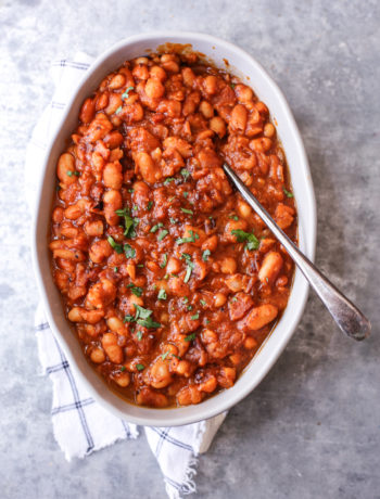 Instant Pot Healthy Baked Beans The Defined Dish Recipes Recipe In 2020 Healthy Baked Beans Baked Bean Recipes Baked Beans