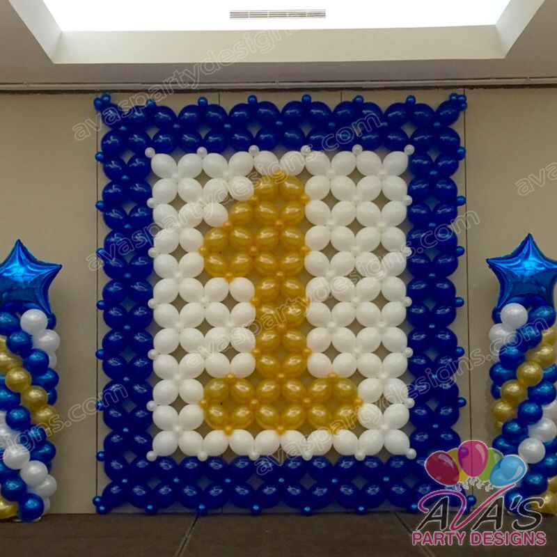 1st Birthday Balloon Wall And Stage Decor Great Way To Celebrate A First For Your Little Star Partywithballoons