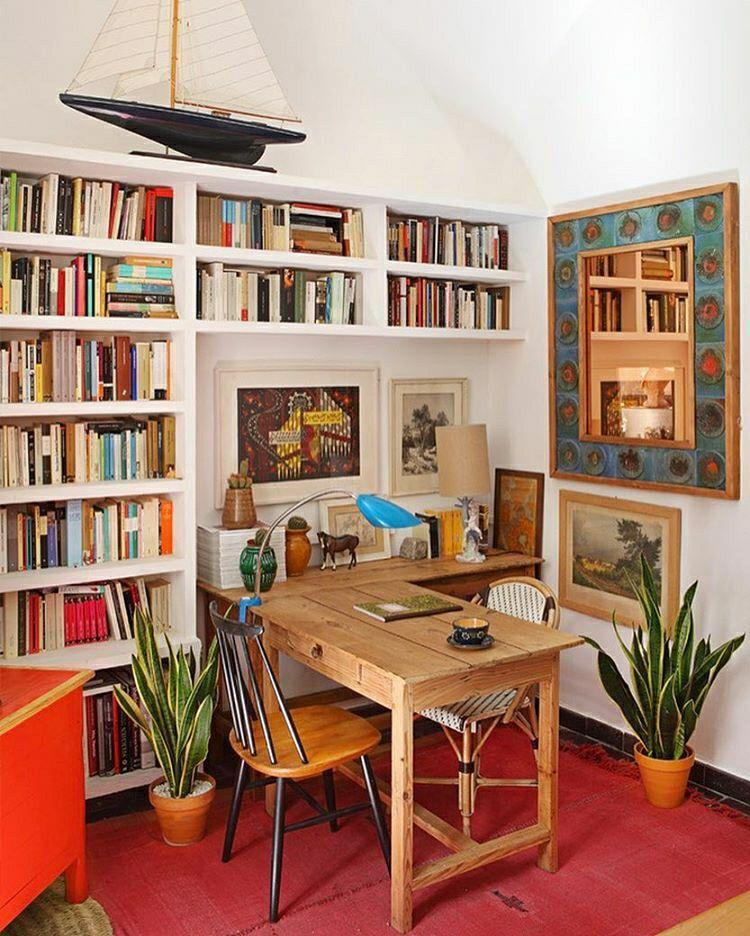 instagram.com @shelfjoy   home studies   Pinterest   Small space ...