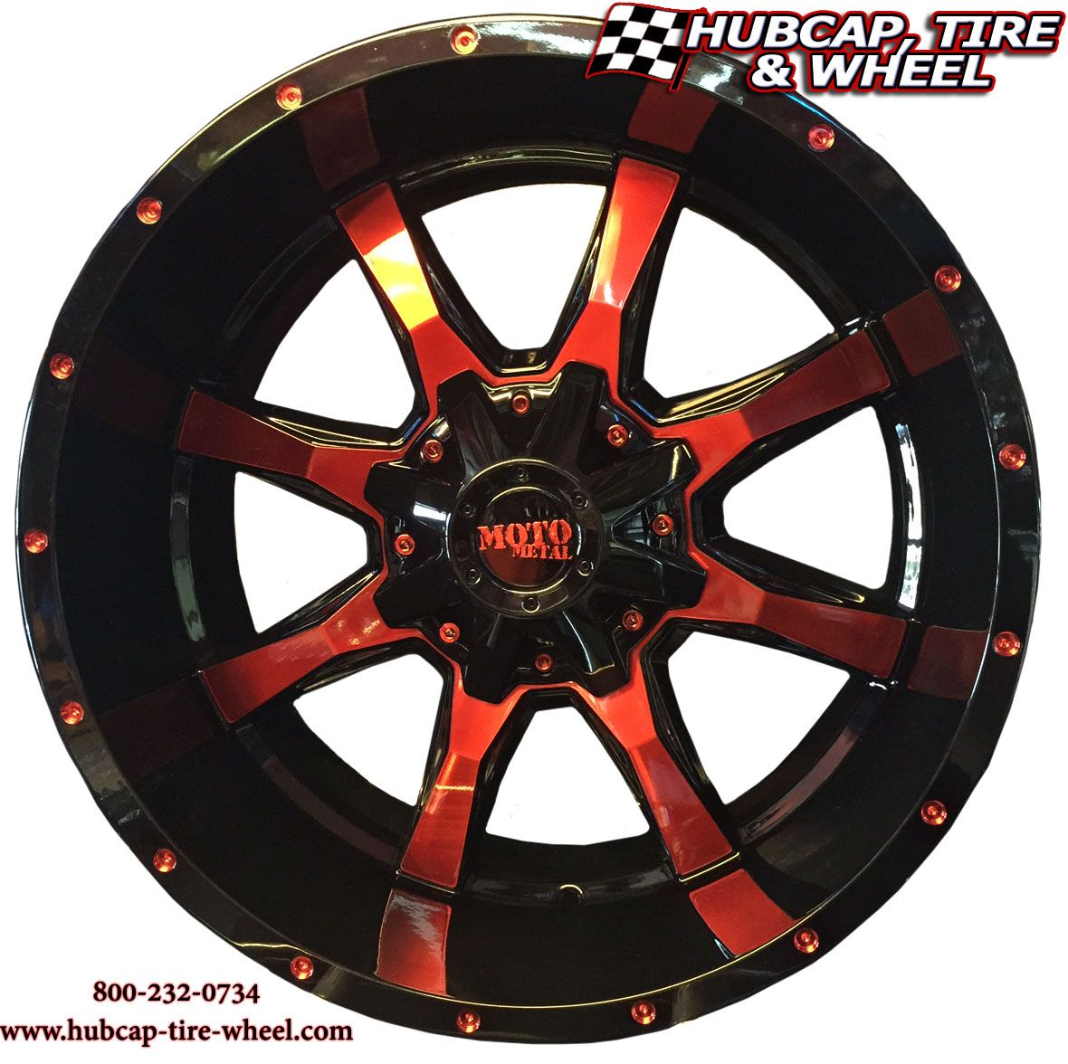 Moto Metal Wheels MO970 Black And Machined With Custom Red Clear Coat Color TruckTrucks