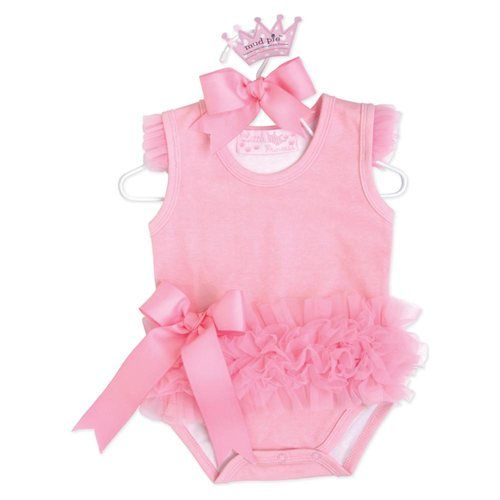 Baby Girls Little Sleeveless Ballerina Onesie Bodysuit Crawler (0-6 Months)