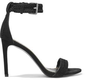 Maje Braided Suede Sandals