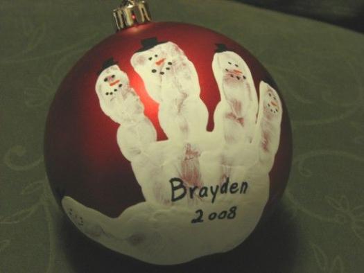 Kids Christmas craft #christmasornaments #christmas #ornaments #handprint