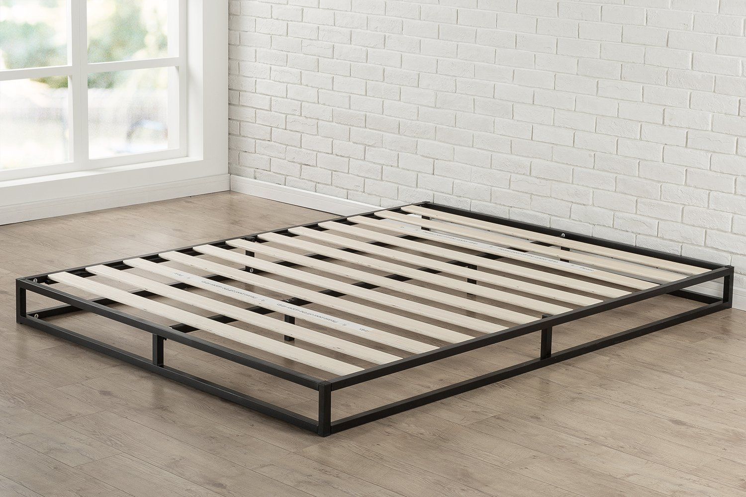 Amazon Com Zinus Modern Studio 6 Inch Platforma Low Profile Bed Frame Mattress Foundation Boxspring Optional Wood Slat Support Full K Bed Frame Mattress