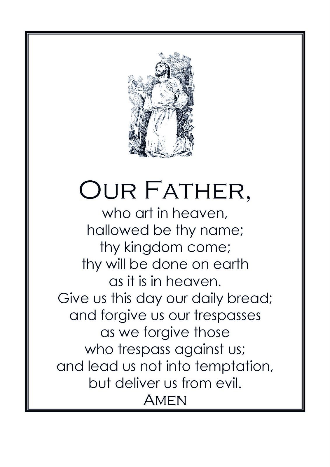 our father prayer google