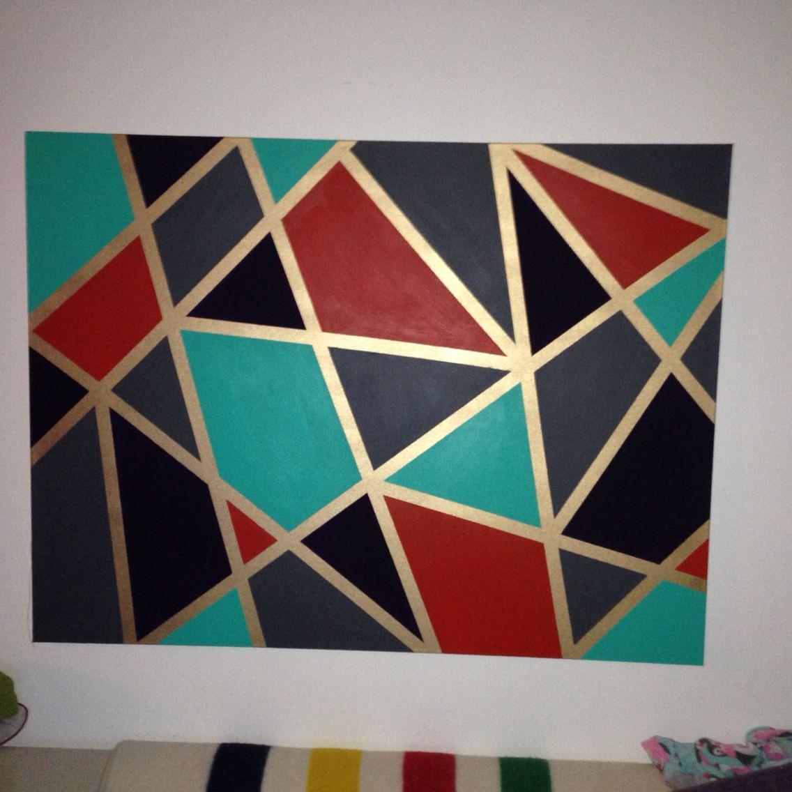 Geometric Wall Art Diy Painters Tape