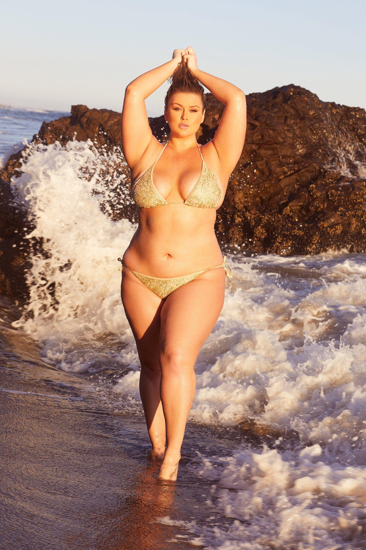 ac1019efdc3 Hunter McGrady Plus Size Curve Sequin Bikini Top - Playful Promises