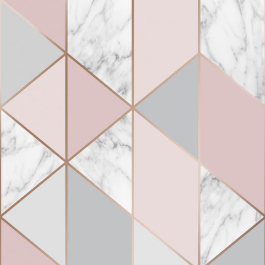 Superfresco Milan Geo Fondo De Pantalla De Plata In 2020 Blush Wallpaper Pink And Silver Wallpaper Pink And Grey Wallpaper