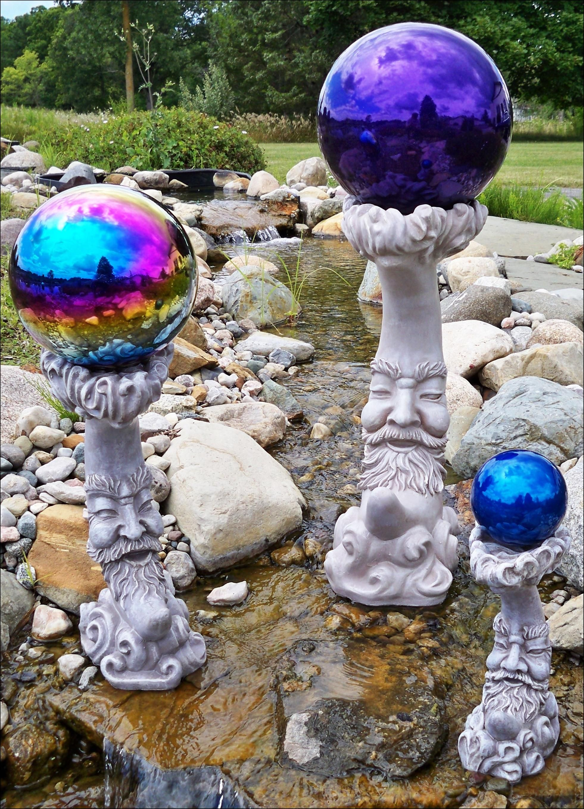 Gentil Image Detail For  Gazing Ball Stand Lawn Ornament Resin Gazing Globe Stand    16 In. H ..