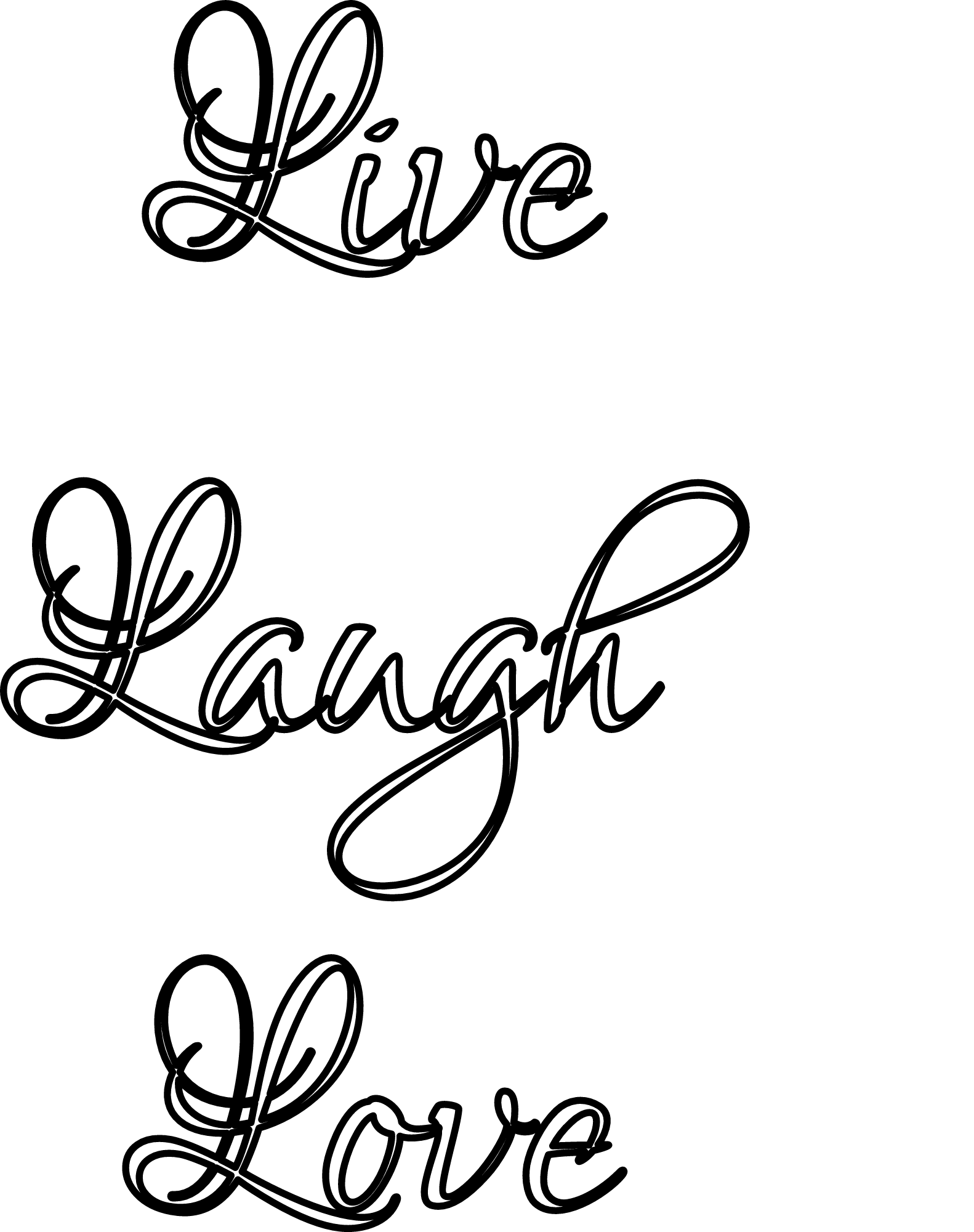 Live Laugh Love Stencil Print Customize Or Make Your Own Free At Http Rapidresizer Com Stencil Stencils Rap Free Stencils Free Stencil Maker Stencils