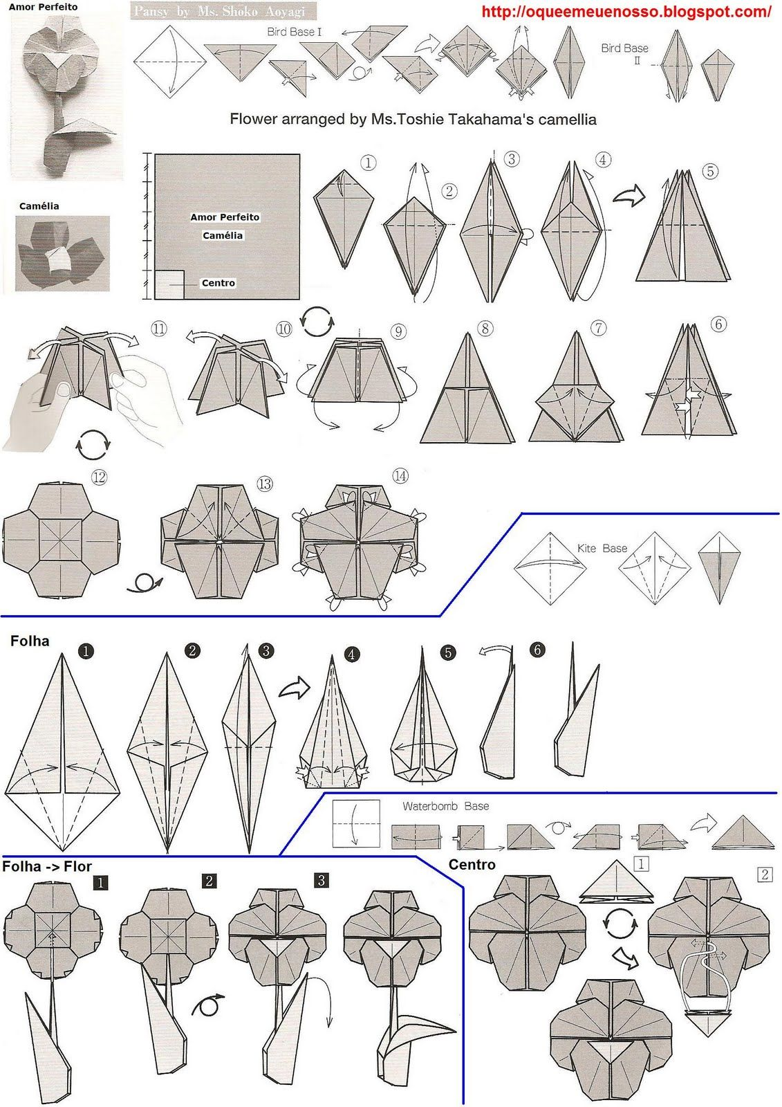 Origami Flower Diagrams Trusted Wiring Diagrams