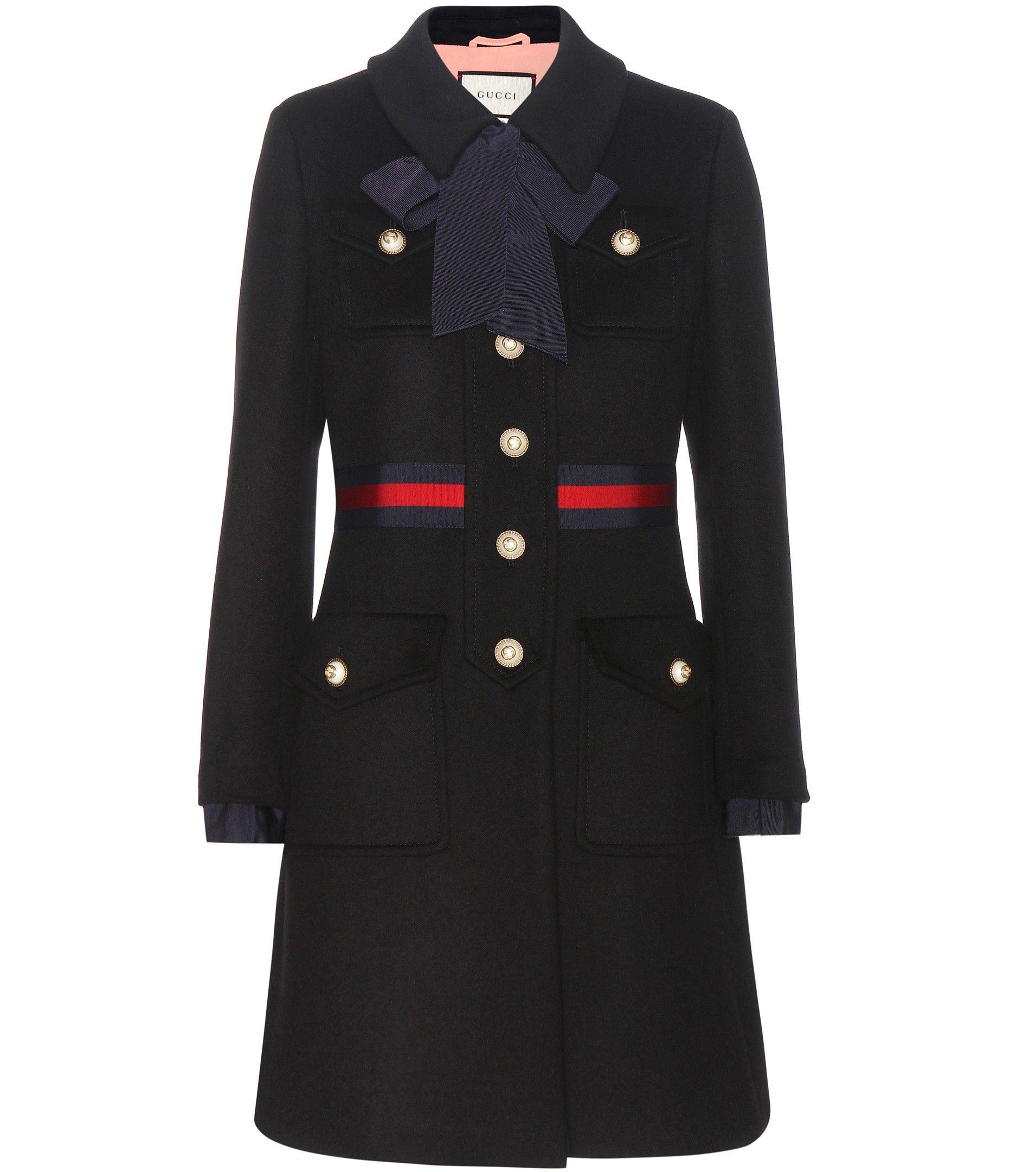 mytheresa.com - Manteau en laine - Gucci - Créateurs - Luxe et Mode pour  femme - Vêtements, chaussures et sacs de créateurs internationaux a4e871905c0