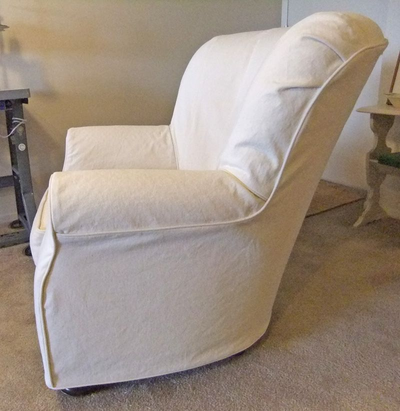 Brilliant Natural Denim Slipcover Custom Made To Fit All Of The Curves Ncnpc Chair Design For Home Ncnpcorg