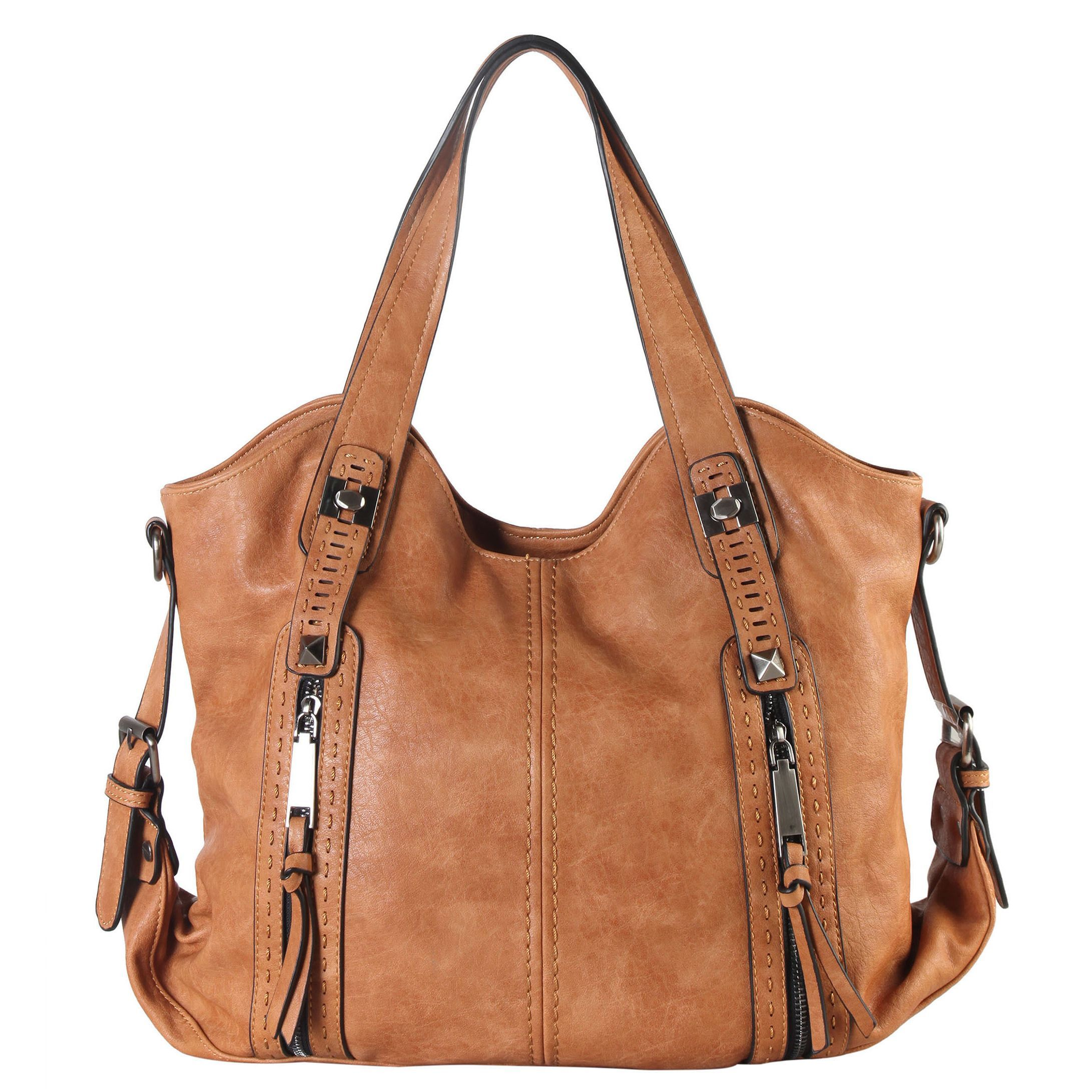 b3b82f6f6378 Diophy Faux Leather Double Front Pockets Hobo Handbag
