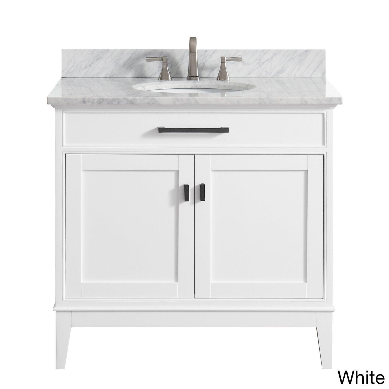 Avanity Madison 37-inch White Vanity Combo (Madison 37 in. Vanity in ...