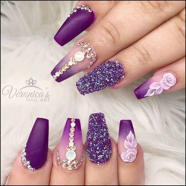 99 the most wonderful and convenient coffin nail designs 2019  page 17  nails 2019
