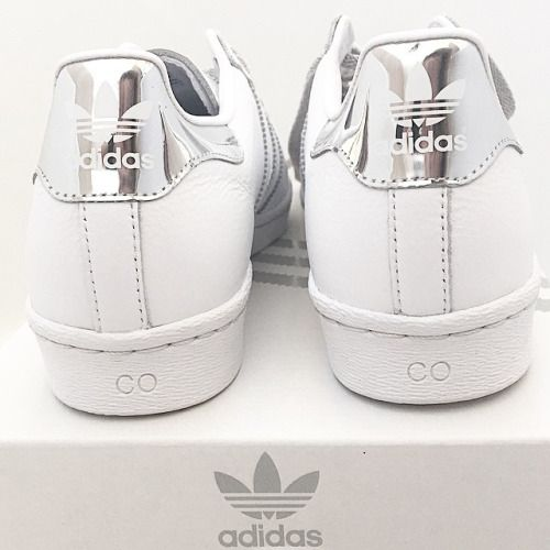 silver adidas superstar ☆