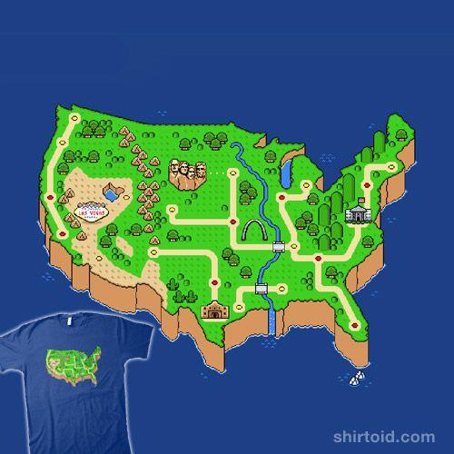 Super Mario America Map | ikwileenprentenboek