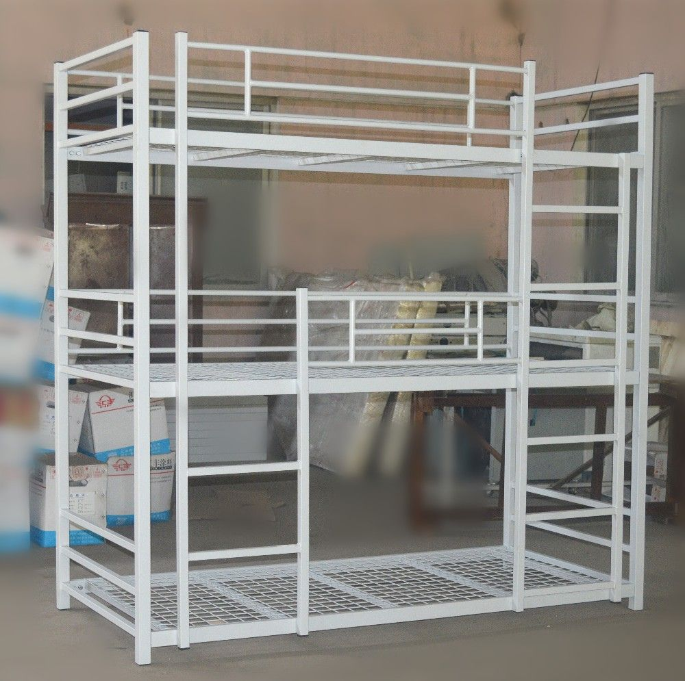 Loft bed railing ideas  Triple Metal Bunk Bed  top Rated Interior Paint Check more at