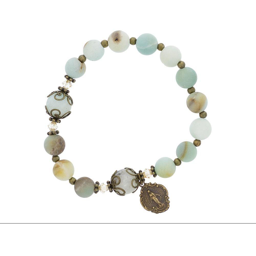 Amazonite rosary bracelet rosary bracelet catholic company and