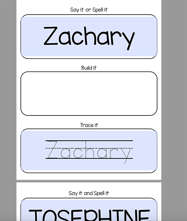 It is an image of Refreshing Printable Name Tracing Sheets