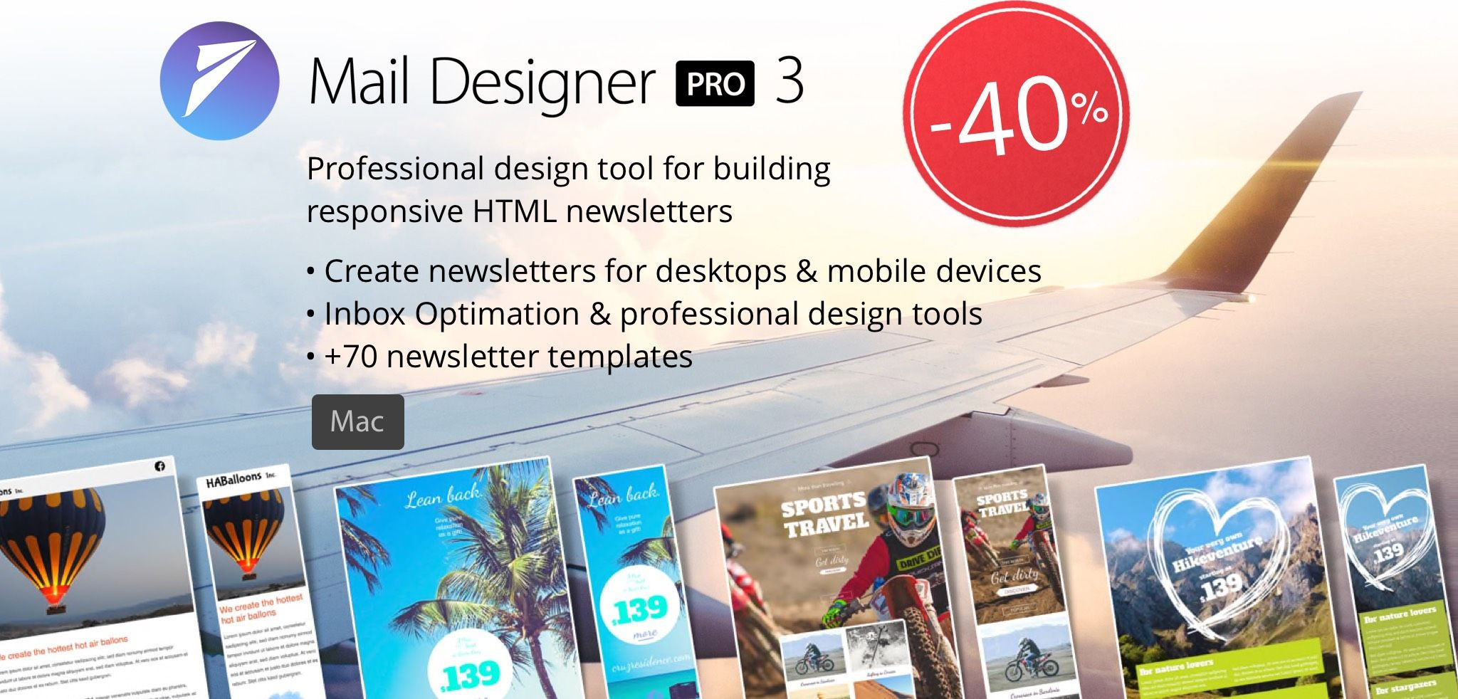 Top Email Templates Equinux Mail Designer 3 For Mac 30 50 40 Black Friday Deal 2016 11 25 Till 28th Pro Design Tool Building Responsive