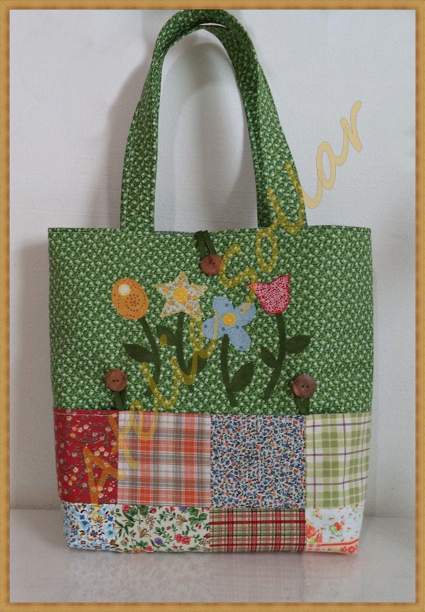 Bolsa em patchwork 1ff24c49041
