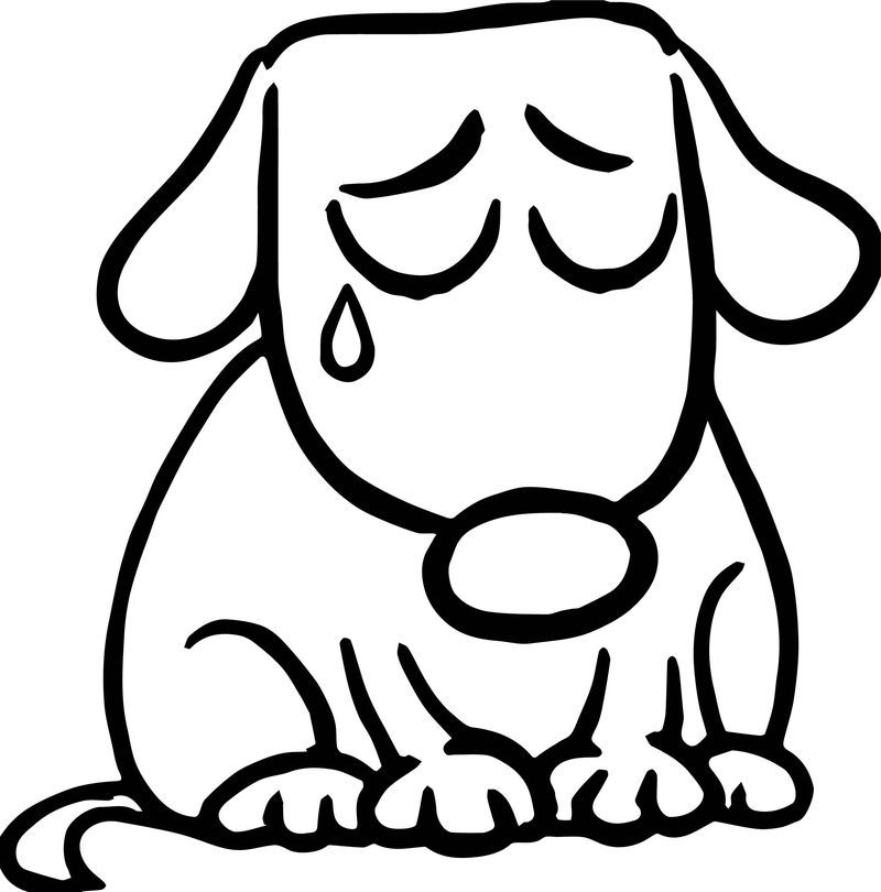 Sad Puppy Coloring Pages Pictures