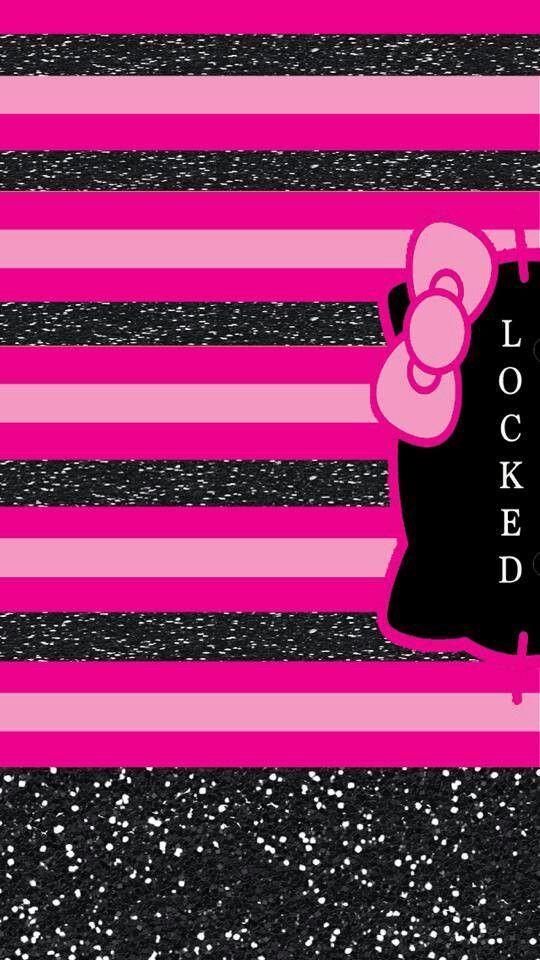 Pin By Kendra Boynton On Lock Screen Wallpapers Hello Kitty Backgrounds Pretty Wallpaper Iphone Iphone Wallpaper Glitter