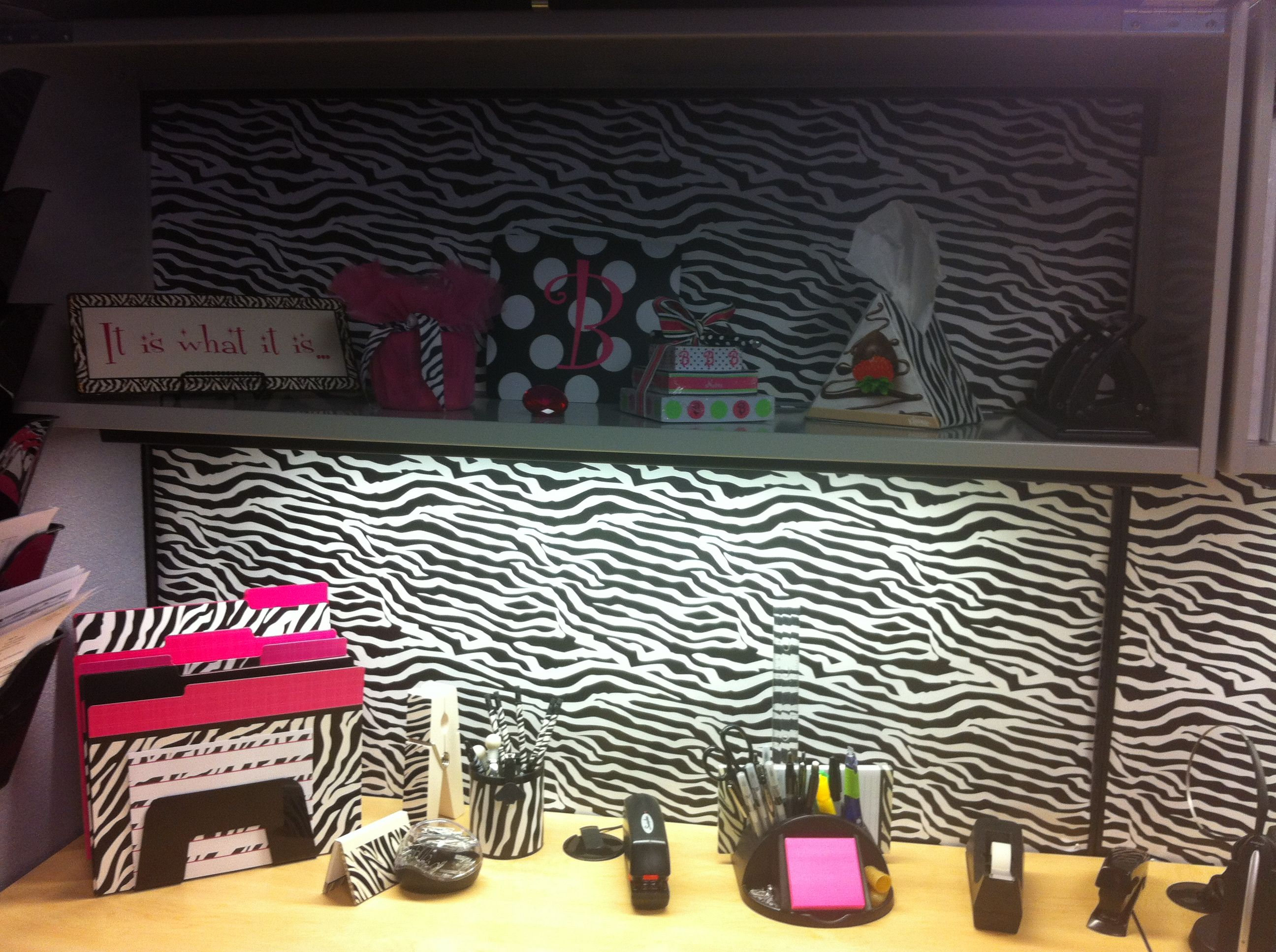 Attractive Zebra Office Cubicle Decor. Office Located In Paramas New Jersey.