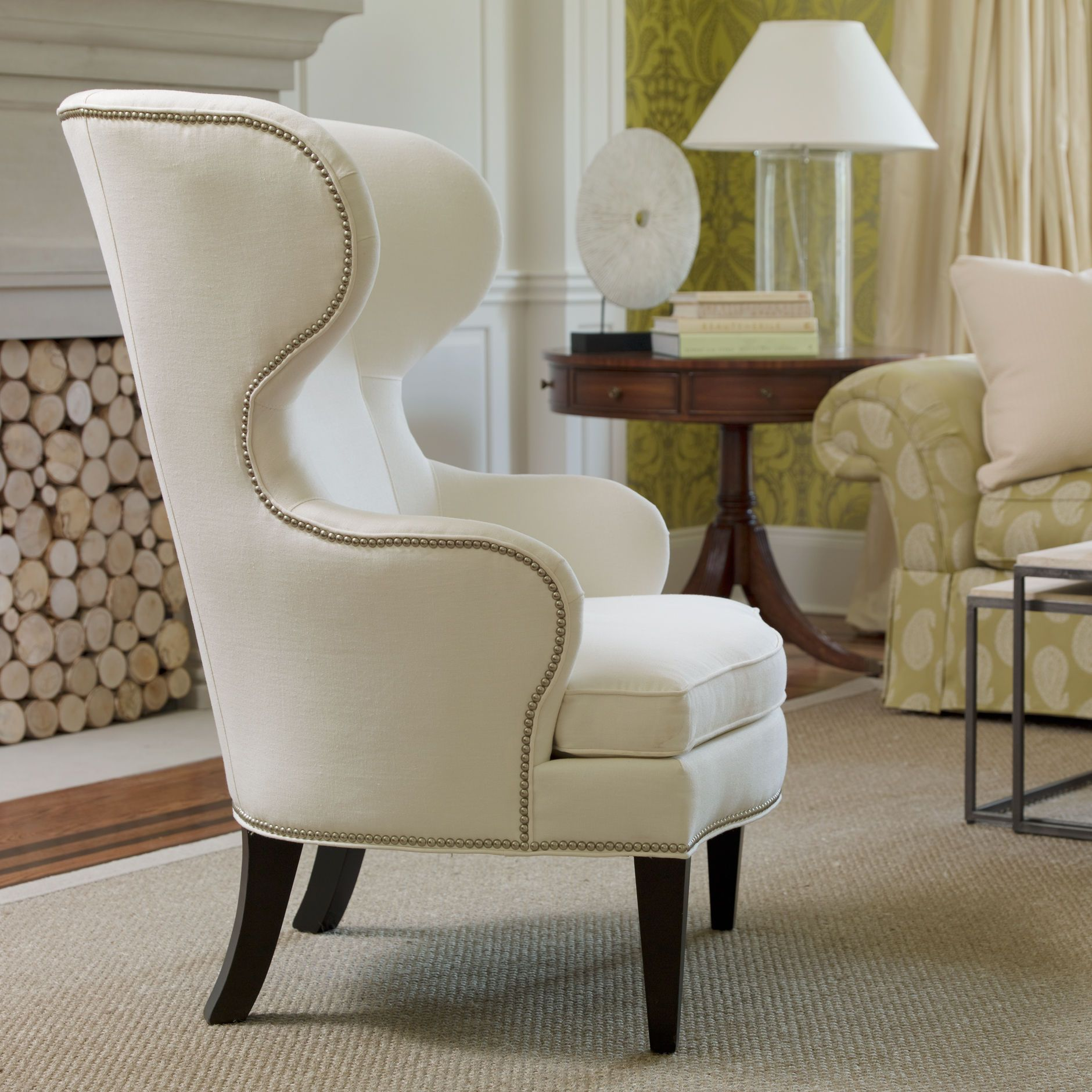 Rand chair from ethan allen inside seating area 24 - High back wing chairs for living room ...